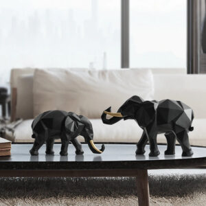 Elephant Resin Statues2