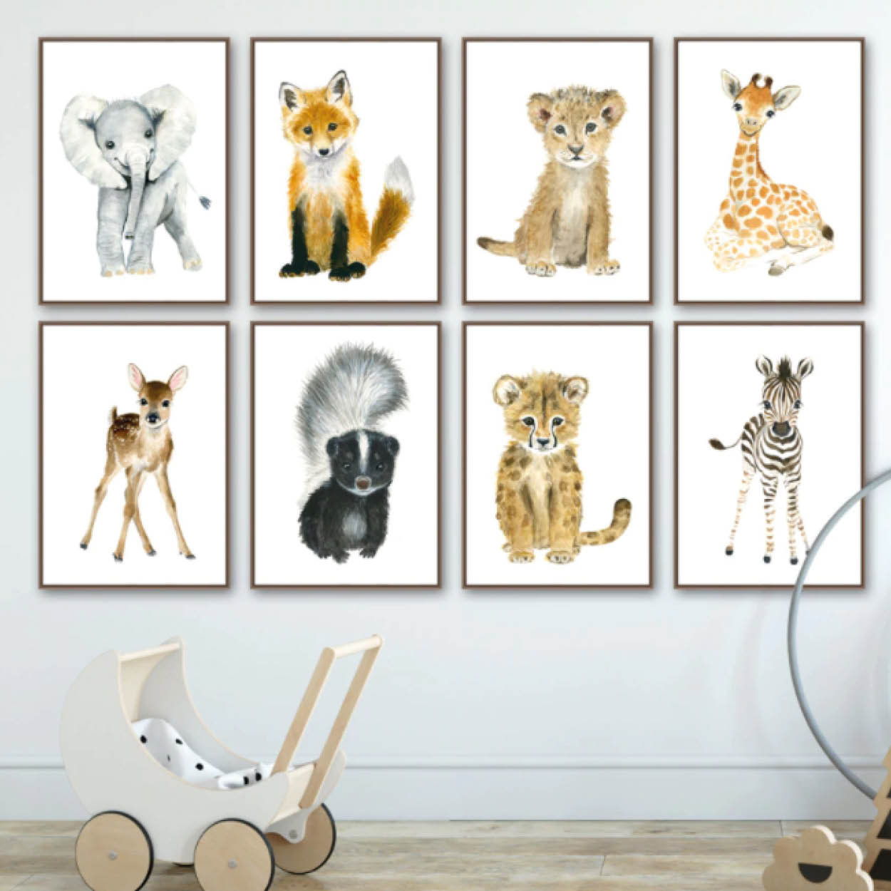Animal Nursury wall art Canvas